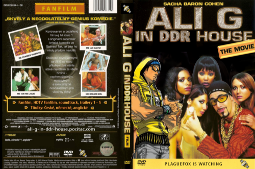 Ali G in DDR house DVD cover